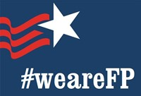 #WeAreFP banner with a star